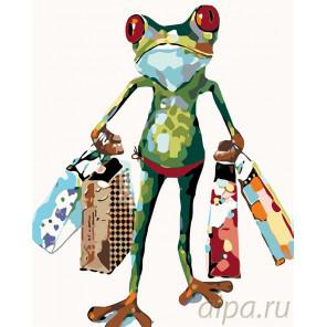 Лягушка с подарками Раскраска картина по номерам на холсте KTMK-42029