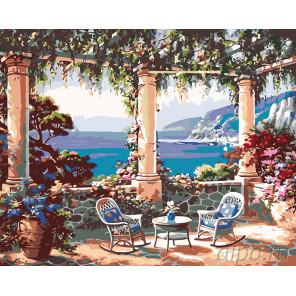Вид на морские дали Раскраска картина по номерам на холсте KTMK-821961