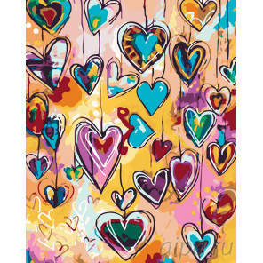 Раскладка Влюбленность Раскраска картина по номерам на холсте KTMK-006952