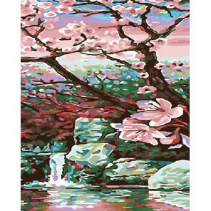 Раскладка Живописный водоем Раскраска картина по номерам на холсте ARTH-AH333