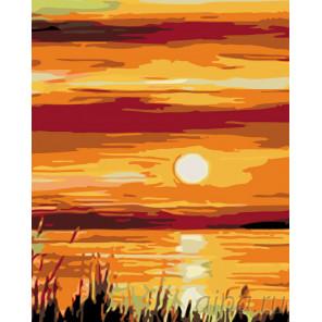 Вечернее солнышко Раскраска картина по номерам на холсте KTMK-92452-1