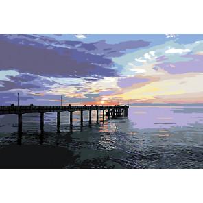Вечерний пирс Раскраска картина по номерам на холсте Z4697-2