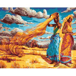 Африканские красавицы Раскраска картина по номерам на холсте KTMK-39651