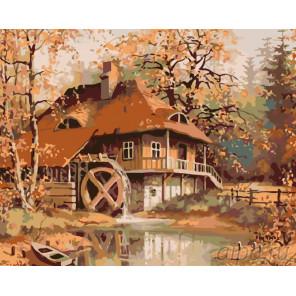 Спокойствие осени Раскраска картина по номерам на холсте KTMK-70092