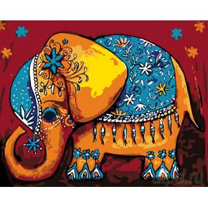 Раскладка Слоненок удачи Раскраска по номерам на холсте Живопись по номерам KTMK-33086