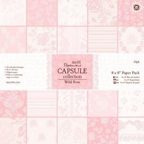Wild Rose Набор бумаги 20х20 см для скрапбукинга, кардмейкинга Docrafts