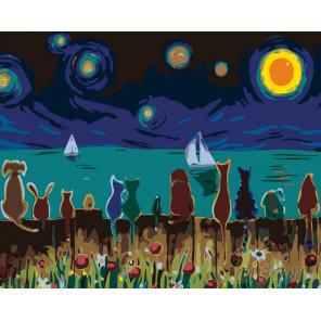 Волшебное небо Раскраска по номерам на холсте Живопись по номерам KTMK-50738