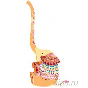 Раскладка Счастливый слоник Раскраска по номерам на холсте Живопись по номерам KTMK-73270