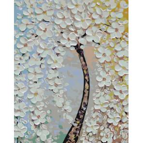 Цветущее дерево Раскраска по номерам на холсте Живопись по номерам KTMK-775265