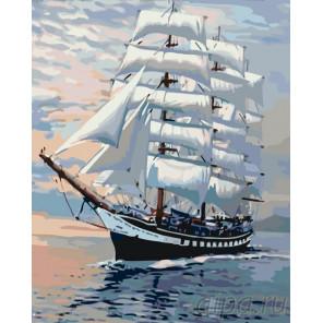Белые паруса Раскраска по номерам на холсте Живопись по номерам KTMK-05003