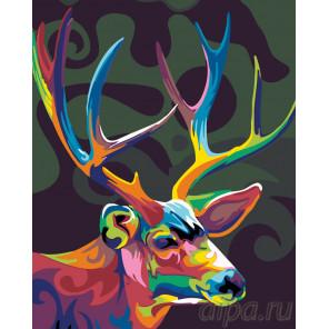 Красочный олень Раскраска по номерам на холсте Живопись по номерам KTMK-17891