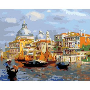 Венецианские каналы Раскраска по номерам на холсте Живопись по номерам KTMK-8644111