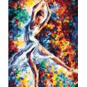 Стремительный танец Раскраска по номерам на холсте Живопись по номерам KTMK-948845