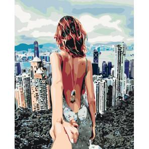 Раскладка Мегаполис. Следуй за мной Раскраска по номерам на холсте Живопись по номерам KTMK-83302