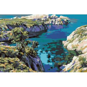 Каменистое побережье Раскраска по номерам на холсте Живопись по номерам HB08