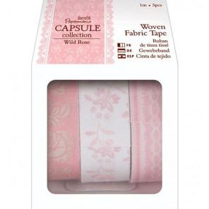 Wild Rose Набор лент тканевых с рисунком на клеевой основе Docrafts
