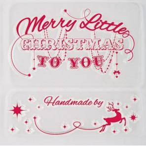 Веселого Рождества Набор прозрачных штампов для скрапбукинга, кардмейкинга Docrafts