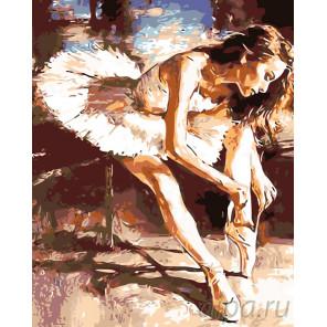 Балерина перед танцем Раскраска по номерам на холсте Живопись по номерам KTMK-54872