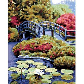схема Пруд в саду Раскраска по номерам на холсте Живопись по номерам KTMK-83178