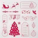 Рождество и Новый год Набор прозрачных штампов для скрапбукинга, кардмейкинга Docrafts