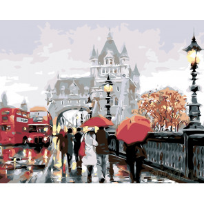 Прогулка по Лондону Раскраска картина по номерам на холсте KTMK-22495