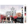 Схема Прогулка по Лондону Раскраска картина по номерам на холсте KTMK-22495