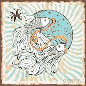 Созвездие рыб Раскраска по номерам на холсте Живопись по номерам KTMK-57895