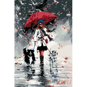 раскладка Стильная девушка Раскраска по номерам на холсте Живопись по номерам