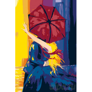 Яркие краски любви Раскраска по номерам на холсте Живопись по номерам RO88