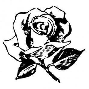 Роза Силиконовый штамп для скрапбукинга, кардмейкинга Stamperia