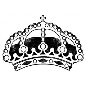 Корона Силиконовый штамп для скрапбукинга, кардмейкинга Stamperia