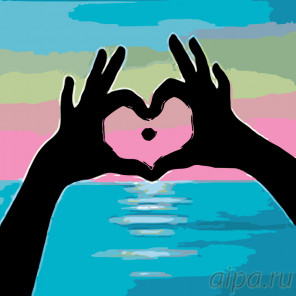 раскладка Сердце моря Раскраска по номерам на холсте Живопись по номерам