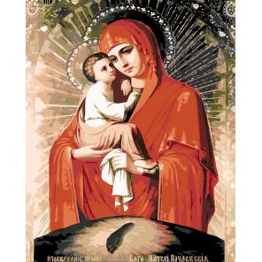 раскладка Богоматерь Почаевская Раскраска картина по номерам на холсте