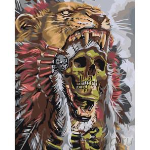 раскладка Дух вождя Раскраска картина по номерам на холсте