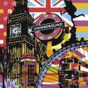 Радужный Лондон Раскраска картина по номерам на холсте PA135