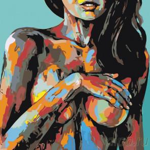раскладка Радужный портрет Раскраска картина по номерам на холсте