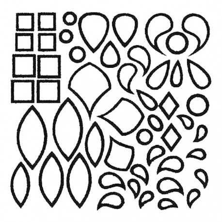 Листья Крупные витражные контуры Gallery Glass Plaid