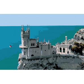 раскладка Крымский замок Раскраска по номерам на холсте Живопись по номерам
