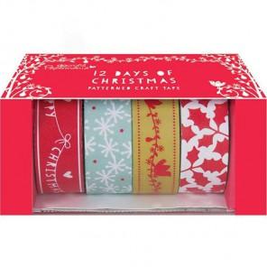 12 дней Рождества Набор бумажных лент для скрапбукинга, кардмейкинга Docrafts