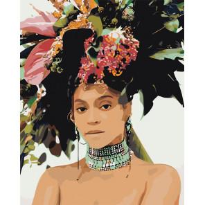 Модная прическа Раскраска картина по номерам на холсте Z-AB107