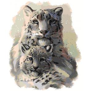 Теплее с мамой Раскраска картина по номерам на холсте Z-AB71