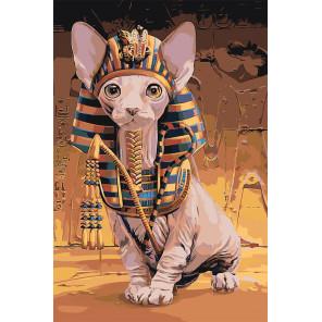 Кот фараона Раскраска картина по номерам на холсте Z-AB75