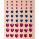 Сердечки розовые и синие Украшения клеевые для скрапбукинга, кардмейкинга Рукоделие