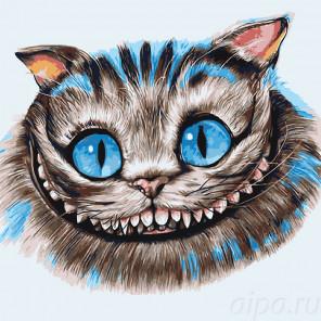 Улыбка кота Раскраска картина по номерам на холсте A502