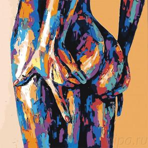 Цветное тело Раскраска картина по номерам на холсте PA158