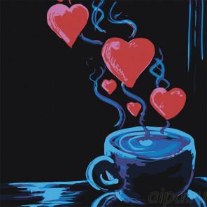 Напиток с любовью Раскраска картина по номерам на холсте RA290