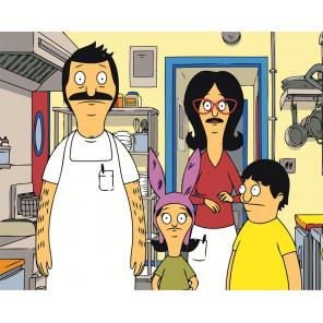 На кухне Раскраска картина по номерам на холсте Z-AB117