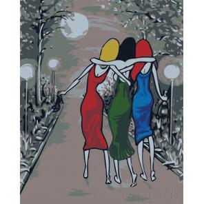 Подружки Раскраска картина по номерам на холсте RO119