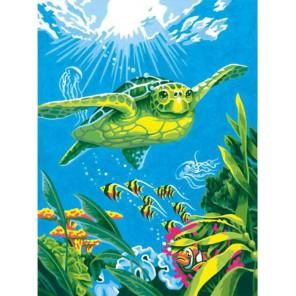 Морская черепаха Раскраска (картина) по номерам акриловыми красками Dimensions