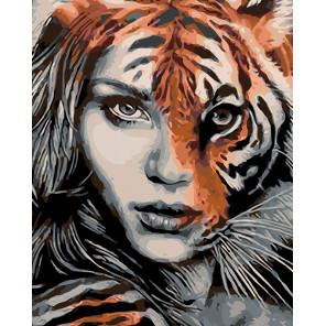 Характер тигрицы Раскраска по номерам на холсте Живопись по номерам KTMK-44425
